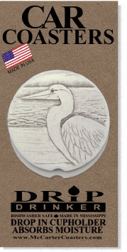 Egret Car Coasters