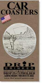 Fisherman Car Coasters