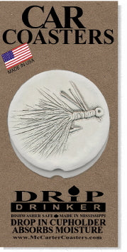 Fly Lure Car Coasters