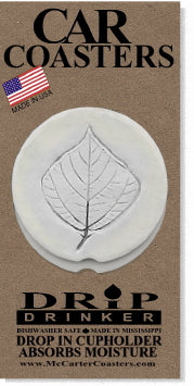 Kudzu Leaf Car Coasters