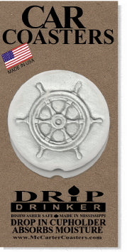 Captain's Wheel Car Coasters