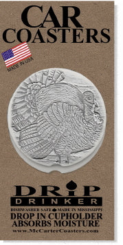 Wild Turkey Car Coasters