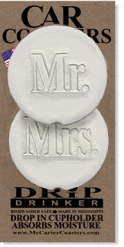 Mr. & Mrs. Car Coasters