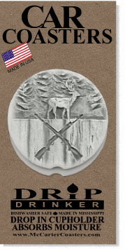 Deer Hunter Car Coasters