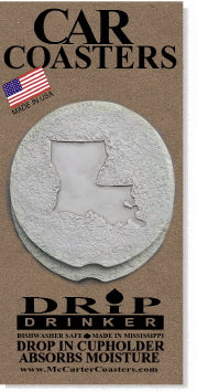 Louisiana Stone Car Coasters
