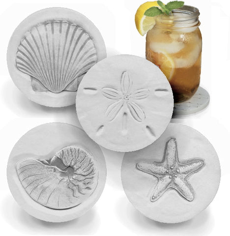 Assorted Shells Drink Coasters