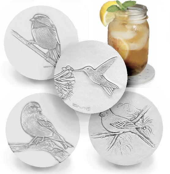Assorted Birds Drink Coasters