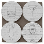 Cocktail Glass Drink Coasters
