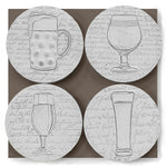 Beer Glass Assorted Drink Coasters