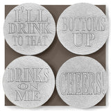 Drink Phrases Drink Coasters