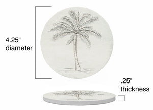 Palm Tree Drink Coasters
