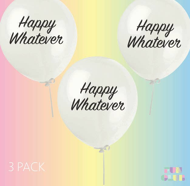 Happy Whatever Party Balloons | 3 Pack