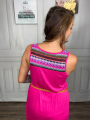 Fuschia Aztec Dress