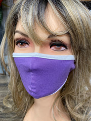 Lilac mask with Ear Loops, Kids