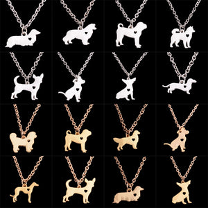 Dog 24k Gold / Sterling Silver Pendant Necklace - Jewelry - TheGeekLeak.com