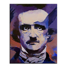 Load image into Gallery viewer, Edgar Allan Poe - Large Oil Painting - Wall Art - Decor - TheGeekLeak.com