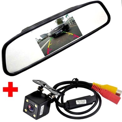 HD Night Vision Reverse Parking Mirror Monitor With Camera - Accessories - TheGeekLeak.com
