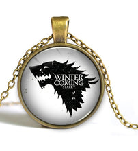 "Load image into Gallery viewer, Game of Thrones - ""Winter Is Coming""  Necklace - Jewelry - TheGeekLeak.com"