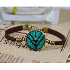 History's Vikings - Lagertha Shield Leather Bracelet - Jewelry - TheGeekLeak.com