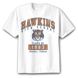 Stranger Things - Hawkins School T-shirt - Clothing - TheGeekLeak.com