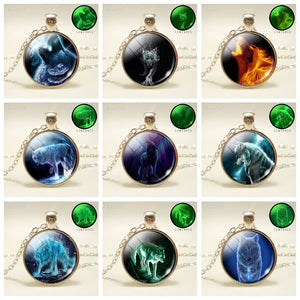 Glow In Dark Wolf Pendant Necklaces - Jewelry - TheGeekLeak.com