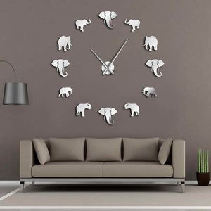 Giant Frameless Designer Elephant Wall Clock - Decor - TheGeekLeak.com