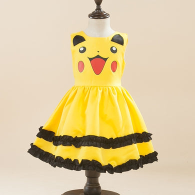Beautiful and Elegant Girls Pikachu Dress - Clothing - TheGeekLeak.com