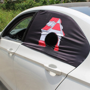 Pet Car Window Shade With Hole - Accessories - TheGeekLeak.com