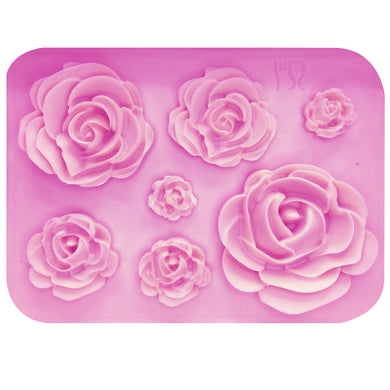 Rose Flowers silicone mold -  - TheGeekLeak.com