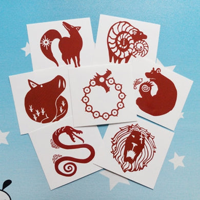 The Seven Deadly Sins 7pc Temporary Tattoo Set - Tattoo - TheGeekLeak.com