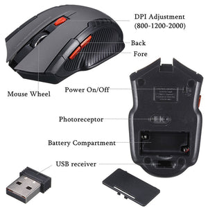 2.4GHz Wireless Optical Mouse - Games - TheGeekLeak.com