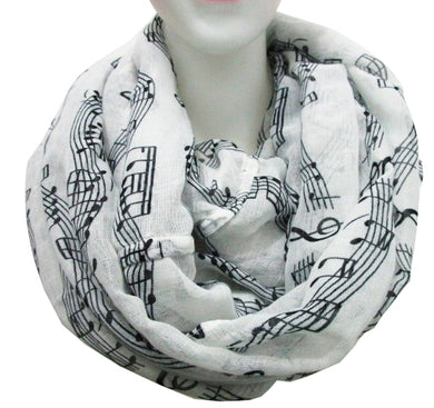 Music Note Infinity Scarf - Clothing - TheGeekLeak.com