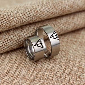Deathly Hallows Stainless Steel Rings - Jewelry - TheGeekLeak.com