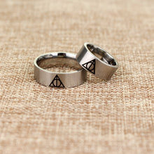 Load image into Gallery viewer, Deathly Hallows Stainless Steel Rings - Jewelry - TheGeekLeak.com