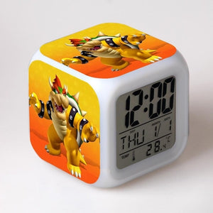 Super Mario 7 Color Change LED Touch Light Digital Alarm Clock - Clock - TheGeekLeak.com