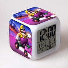 Load image into Gallery viewer, Super Mario 7 Color Change LED Touch Light Digital Alarm Clock - Clock - TheGeekLeak.com
