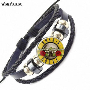 Guns N' Roses Leather Bracelet - Jewelry - TheGeekLeak.com