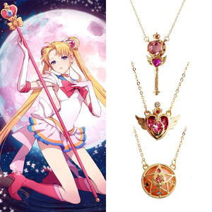 Sailor Moon Loving Wand Crystal cosplay Pendant Necklace - Jewelry - TheGeekLeak.com
