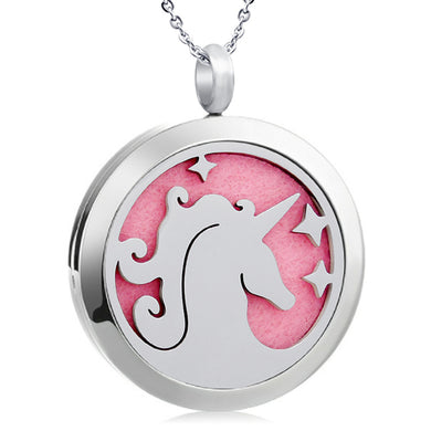Unicorn Stainless Steel Oil Diffuser Pendants with Pads - Jewelry - TheGeekLeak.com