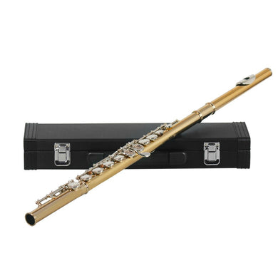 16 Holes C Key Cupronickel Plated Gold and Sliver Flute - Instruments - TheGeekLeak.com