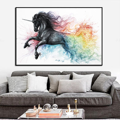Beautiful Unicorn Canvas Oil Painting - Art - TheGeekLeak.com