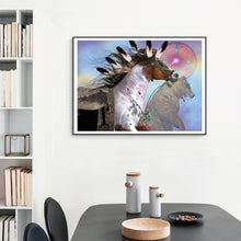 Load image into Gallery viewer, Native American Horse - Canvas Oil Painting - Art - TheGeekLeak.com