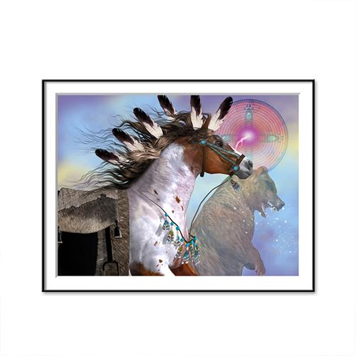 Native American Horse - Canvas Oil Painting - Art - TheGeekLeak.com