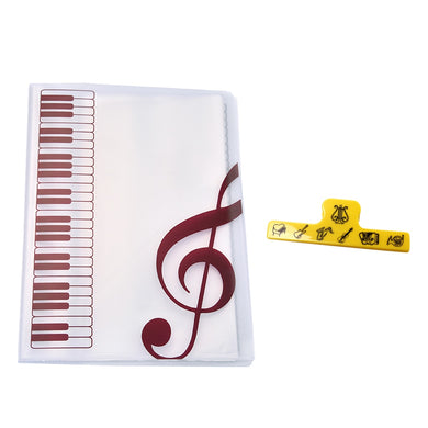 40 Page A4 Sheet Music Folder w/ Clip - Folders - TheGeekLeak.com