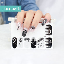 Load image into Gallery viewer, Music Note Full Nail Stickers - Beauty - TheGeekLeak.com