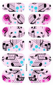 Music Note Full Nail Stickers - Beauty - TheGeekLeak.com