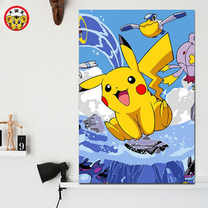 DIY Pikachu Paint-By-Numbers Set - Crafts - TheGeekLeak.com