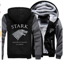 Load image into Gallery viewer, Game of Thrones - House Stark Zippered Hoodie