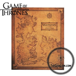 Game of Thrones Westeros Map -  - TheGeekLeak.com
