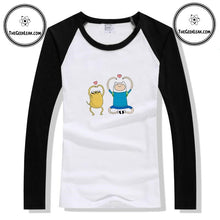 Load image into Gallery viewer, Finn and Jake Long Sleeve T-shirt - Clothing - TheGeekLeak.com